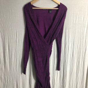 MODA International Faux Wrap Bodycon Dress Size S